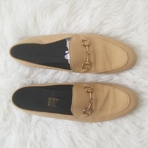 Gucci Taupe Brixton Loafers
